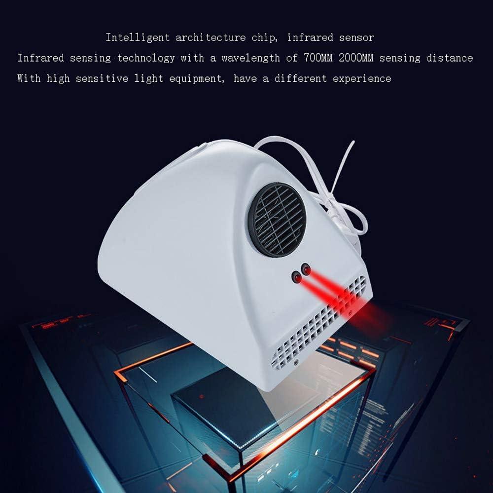 Montado En La Pared Modundry Secador de Manos Electr/ónico con Sensor Color Blanco ABS Secadora de Manos Comercial y Hogar