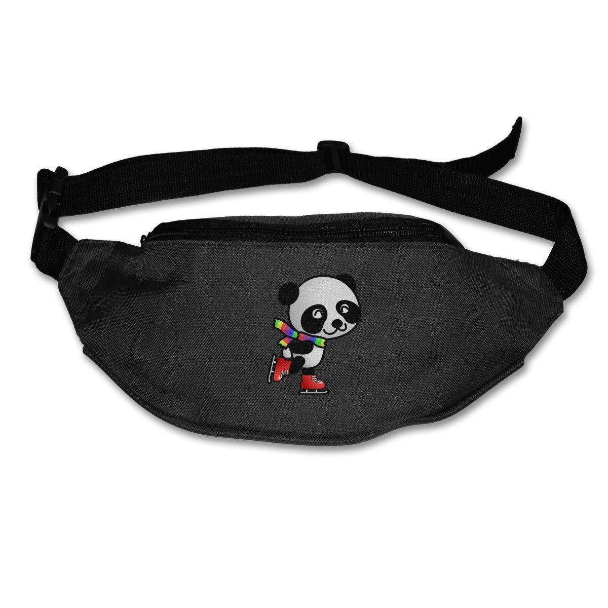 Kawaii Rainbow Panda Skating Sport Waist Packs Fanny Pack Adjustable For Travel