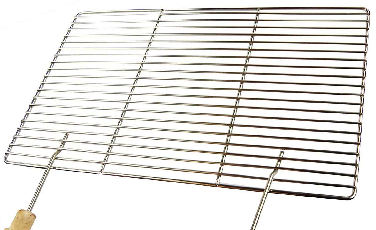 Aktiona di alta qualità V2A in acciaio inox con griglia di cottura 60 cm x 40 cm con due manici e robusto e resistente