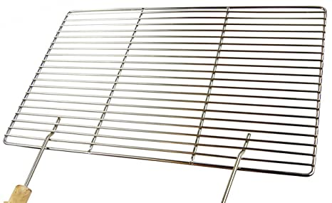Acero inoxidable parrilla 48, 8 x 33 cm + 2 asas (solo 12 mm ...