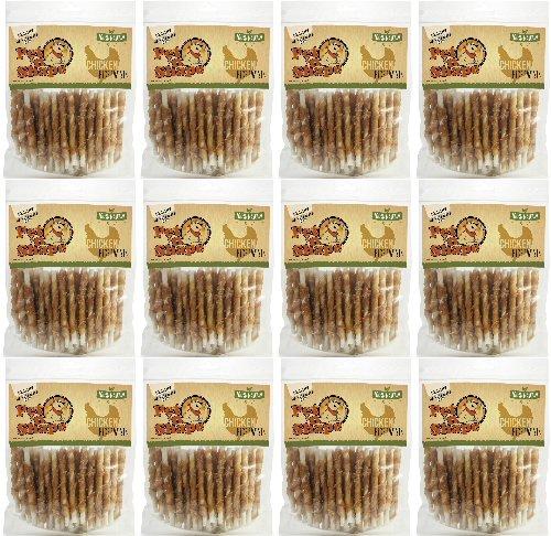 Pet 'n Shape Chiken Hide Twists Jerky Treats 5in, 12lb (12 x 1lb) by Pet 'n Shape
