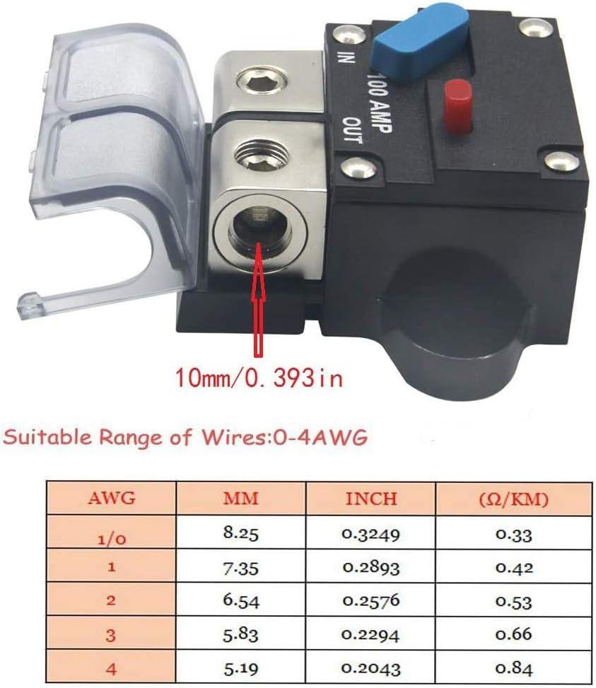 Moligh doll 12-24 Volt 200A Disjoncteur Moteur /à la Tra?Ne Auto Voiture Marine St/éR/éO Audio en Ligne Porte-Fusibles Onduleur