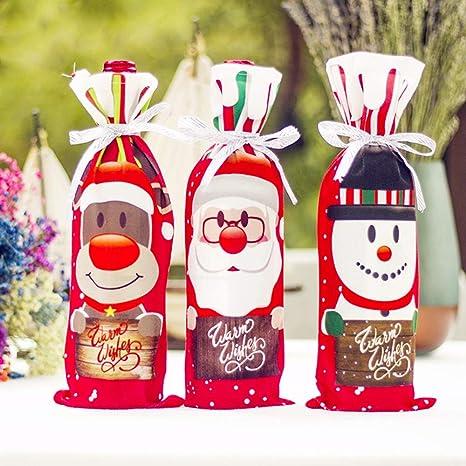 Amazon.com: Bolsa de vino de Navidad Cubierta Bolsas de ...