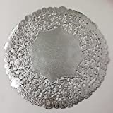 50Pcs Silver Foil Round Doileis, Made in the USA-8 Inch