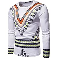 TIFIY Totem Automne Hiver Africaine Hommes/Jeunesse Imprimer Manches Longues Dashiki O-Neck Sweat Top