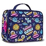 Lone Cone Kids' Insulated Fabric Lunchbox in Fun Patterns, Intergalacti-CAT
