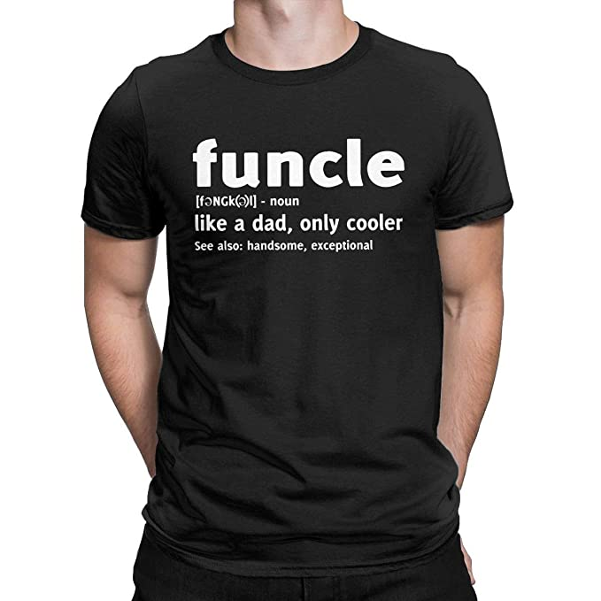 25c376c3 AMANTSHIRTS Funcle Like A Dad Only Cooler Funny Graphic T Shirt Gift for  Uncle Tees Tops
