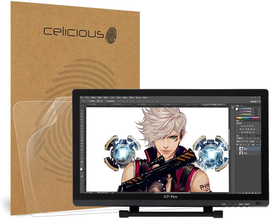 Pack of 2 Celicious Vivid Film Protector Compatible with XP-Pen Artist Display 22E Pro