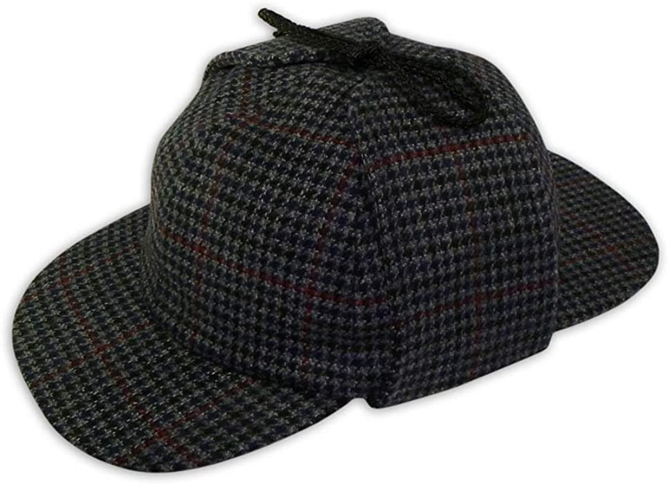 341559df370 PASQUALE CUTARELLI Mens Wool Tweed Deerstalker Hat (9167) Grey 55cm ...