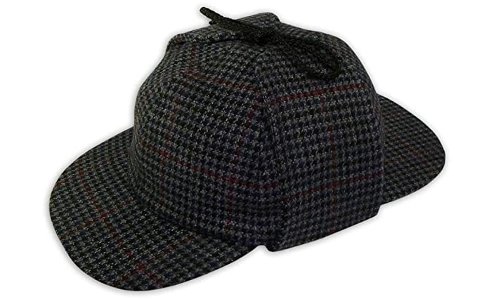 2387901c320 Pasquale Cutarelli Mens Wool Tweed Deerstalker Hat (9167) Grey 60cm ...