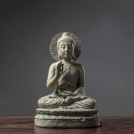 YHCH Estatua de Buda de jardín, Buda sentado al aire libre, adorno para decoración de jardín, Zen, decoración del hogar, escultura de poliresina regalos, resina, Grisb, 14.2inch: Amazon.es: Hogar