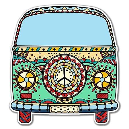Car Phone Helmet SELECT SIZE AK Wall Art Company Volkwagen Peace Van Vinyl Sticker