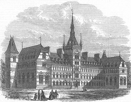 HOUNSLOW. Brunel University Osterley Campus - 1867 - old antique vintage print - engraving art picture prints of London Buildings - Illustrated London News