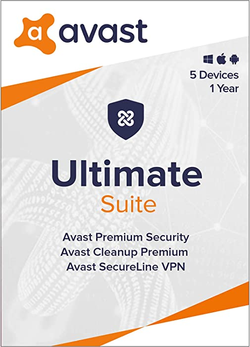 Avast Ultimate 2020 | Antivirus+Cleaner+VPN | 5 Devices, 1 Year [PC/Mac/Mobile Download]