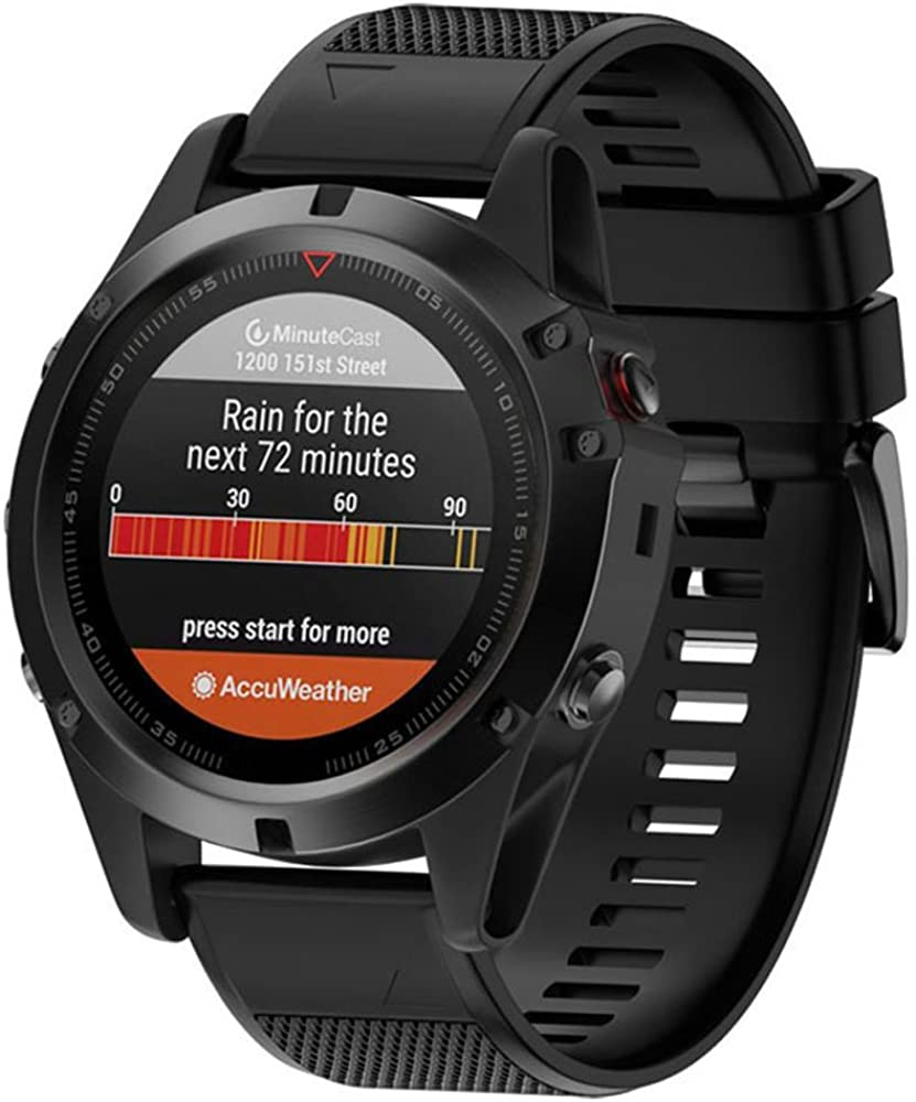 Dxlta Banda de Reloj de Silicona Suave para Garmin Fenix 5X ...