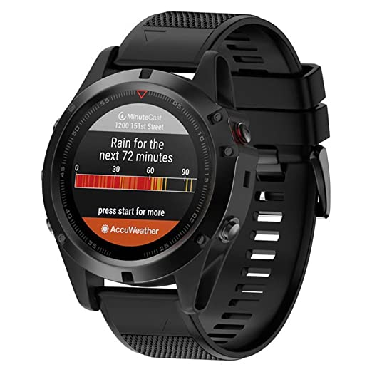 Dxlta Banda de reloj de silicona suave para Garmin Fenix 5X/Fenix 3/Fenix