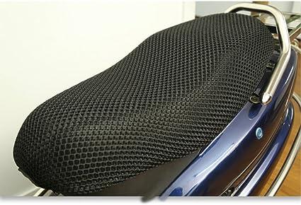 resistente transpirable Behavetw Funda protectora para asiento de motocicleta tejido de malla 3D para scooter antideslizante