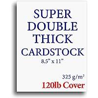 "120lb Cover Thick Cardstock Paper - Plain Heavy Bright White Stock - 8.5"" x 11"" - Inkjet/Laser Printer Compatible (50…"