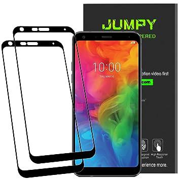 Jumpy [2-Pack] Protector de Pantalla LG Q7 / LG Q7 Plus, Vidrio ...