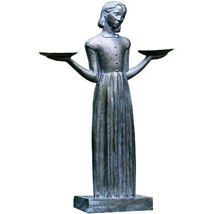 Potina Outdoor Garden Sculpture   Savannahu0027s Bird Girl Statue (Large ...