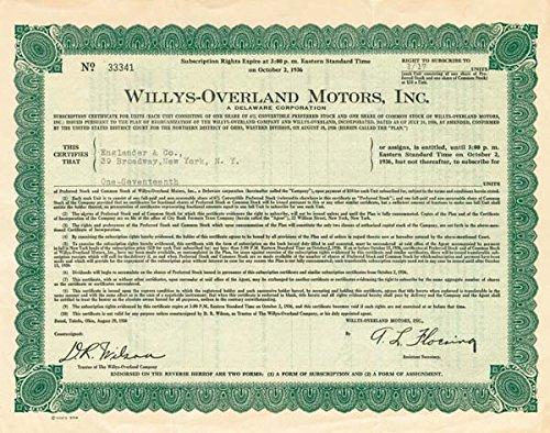 - Willys-Overland Motors Inc