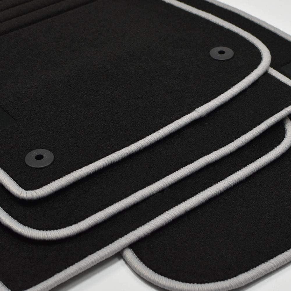 Mattenprofis Velours Logo Fußmatten Passend Für Peugeot 208 I Ab Bj 2012 2019 Silber Auto