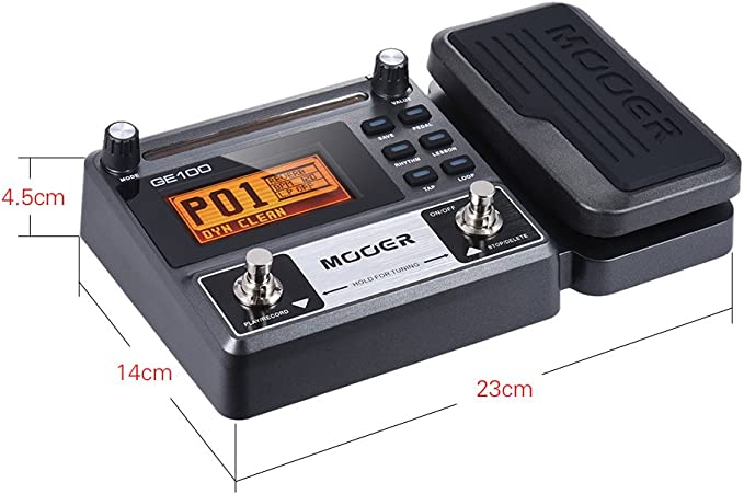 Muslady MOOER GE100 Multi-efectos de Guitarra pedal de Efectos del ...