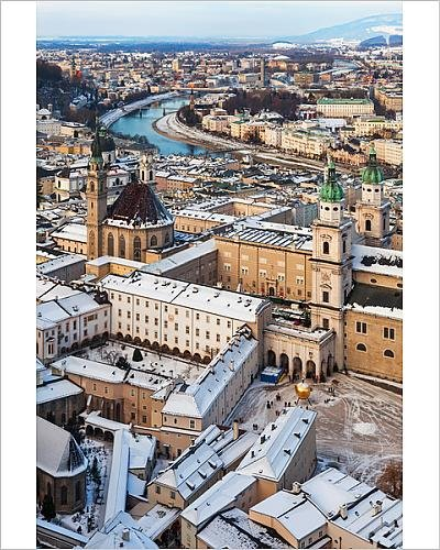 Franciscan Snow (Photographic Print of Old Town Winter)