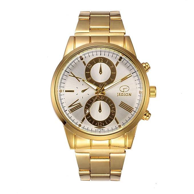 Tianya - Golduhr Auf Edelstahlarmband, Für Männer, Mit Datum Analoge Quarz-Armbanduhr (Geld) ???