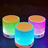 qianfuyin LED Light Bulb with Integrated Bluetooth Speaker,Mini portable Bluetooth speaker LED colorful glare, RGB Changing Lamp Wireless Stereo Audio with Remote Control