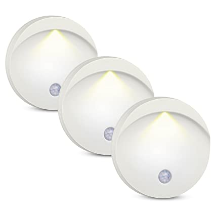 AMIR – Lámpara de pared LED, luz nocturna LED con detector de movimiento, lámpara