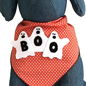 Tail Trends Halloween Dog Bandanas with Designer Appliques – 100% Cotton…