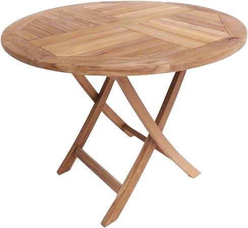 Amazon De Charles Bentley Massivholz Teak Runde 2 4 Sitzer Tisch