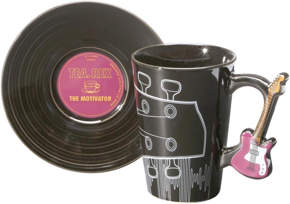 Grape by Wink Guitar Handle Ceramic Mug And Record Saucer