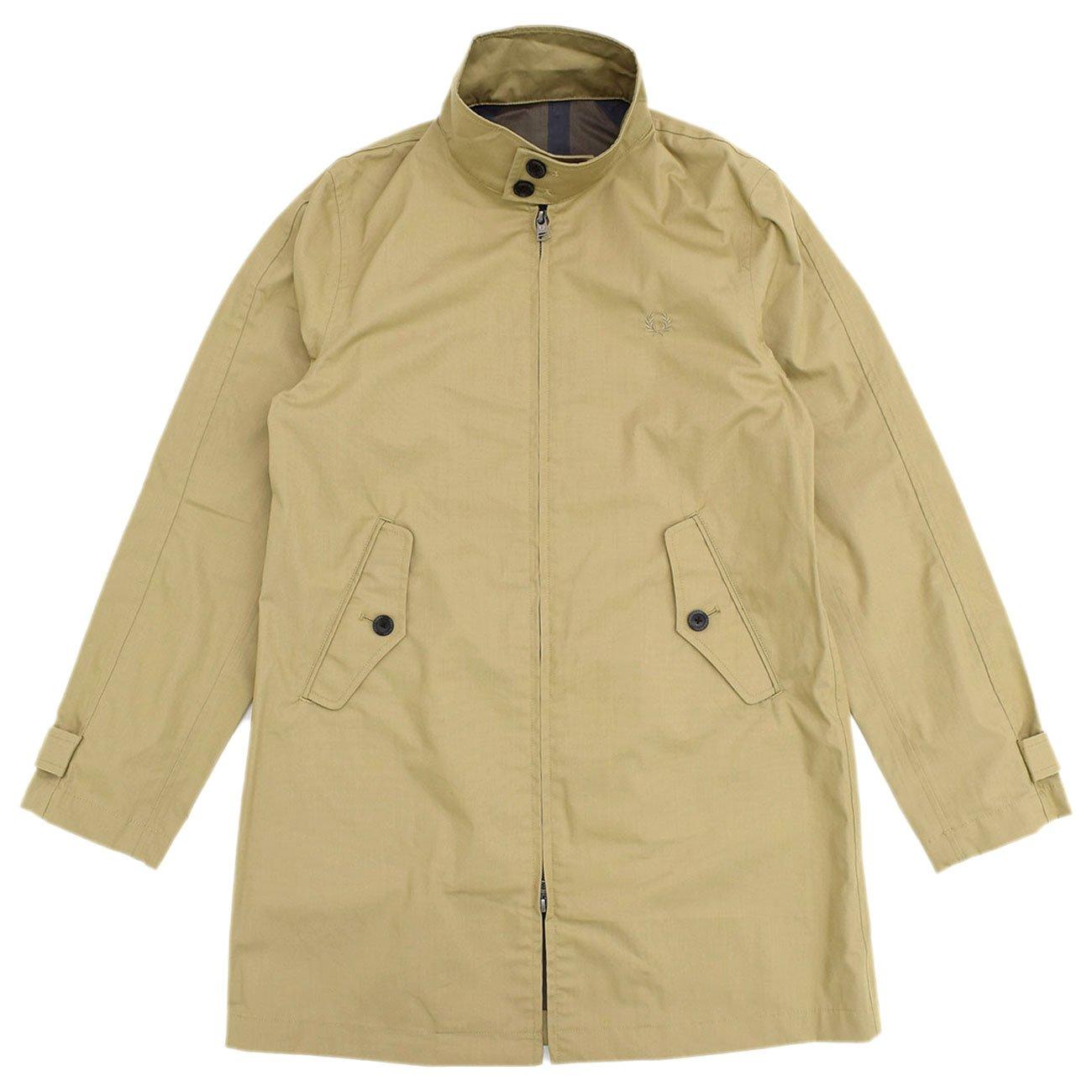 (フレッドペリー) FREDPERRY ジャケット メンズ ハリントン マック コート 日本企画 B076F23J7P  ベージュ(34) S