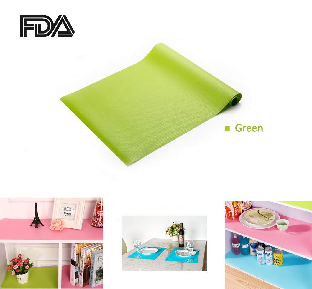Zinnor [2 PACK EVA Cabinet Drawer Liner,Non-Adhesive Refrigerator Pad Cupboard | Refrigerator Freezer Mat Waterproof Pad Kitchen Cabinets,Drawer,Refrigerator Lining (60