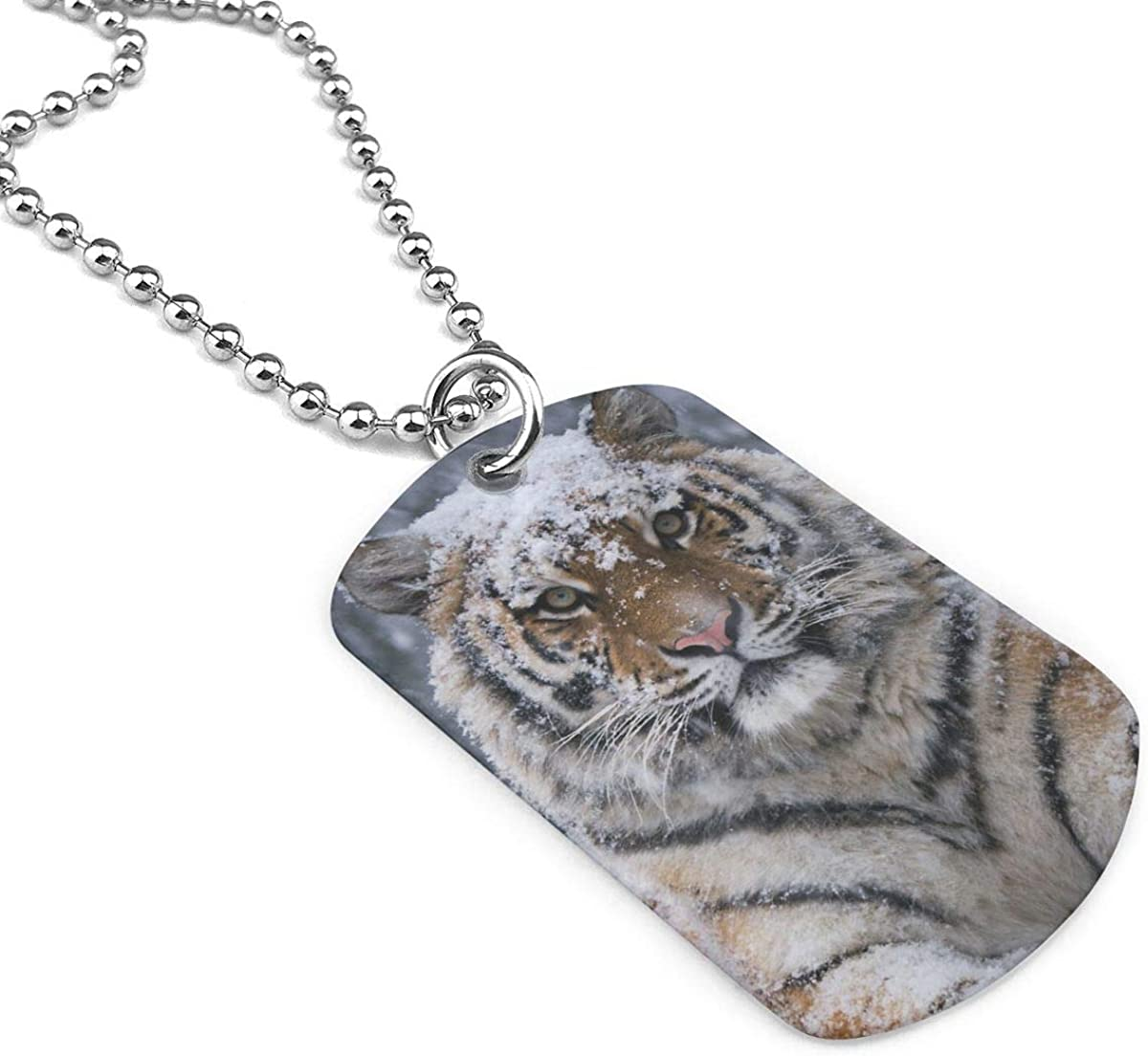 Military Necklace Cool Tiger Custom Zinc Alloy Pendant Necklace Dog Tags