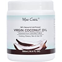 Max Care Wide Mouth Cold Pressed Virgin Coconut Oil, 500ml