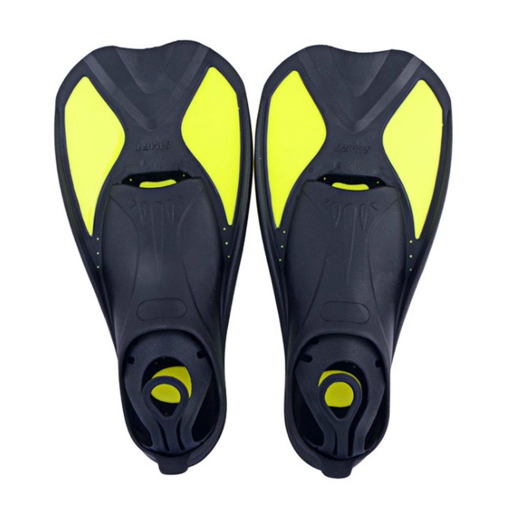 Isuper -Aletas,Aletas de Buceo,Aletas de natación,Aleta Entrenamiento Ligero Ajustable para bucear (Amarillo L 42-43) Aletas de natación