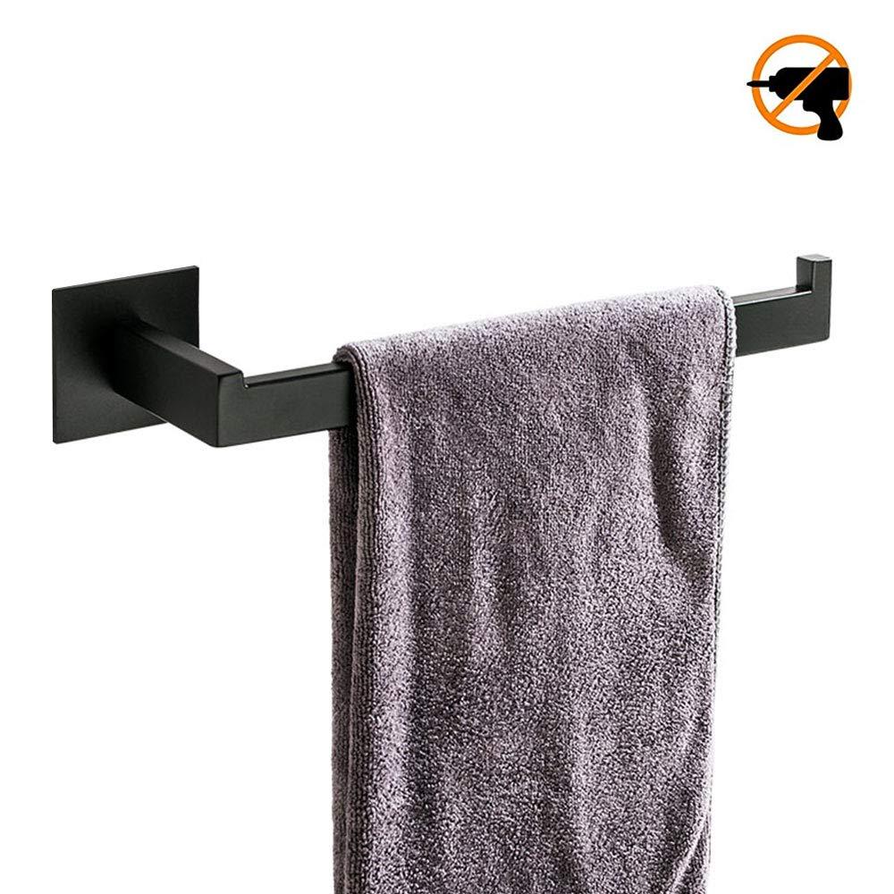 Edelstahlkonstruktion ohne Bohren Homovater Bad-Handtuchring Selbstklebender Handtuchringhalter mit schwarzem Finish