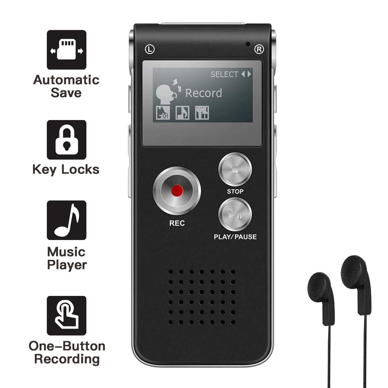 Mini Spionage Diktierger/ät Voice Recorder One-Touch Aufnahme Meeting usw. 192 Stunden Kapazit/ät 20 Stunden Batterie USB Memory Stick f/ür Vorlesung 16GB Digital Diktierger/ät Interview
