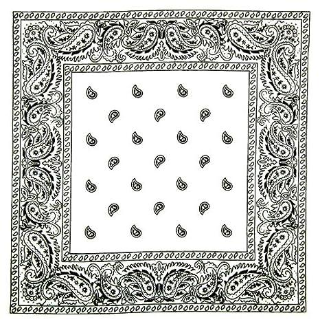 PURECITY©® Lot de 4 foulard bandana américain tour de cou paisley USA -  Rouge + noir + blanc + bleu marine - Country cowboy moto hip hop   Amazon.fr  ... 360a80f807b