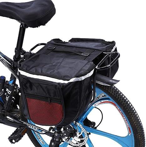 ZHIPENG Cesta De Bicicleta, Tela Impermeable 600D Desmontable + ...