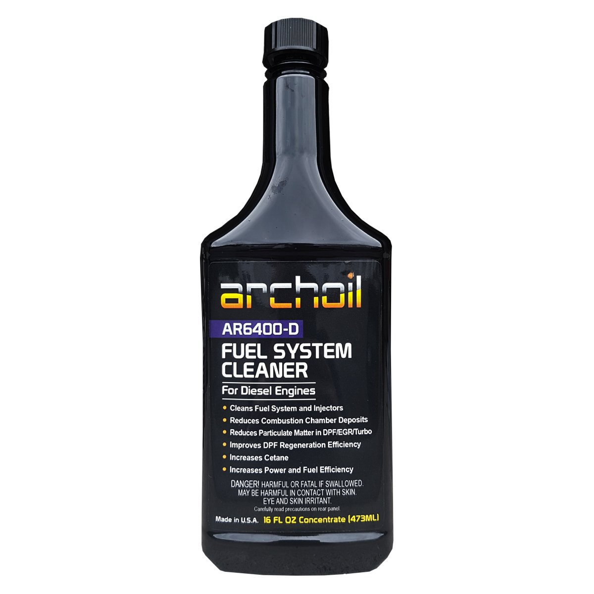 Archoil AR6400-D (16oz) Professional Diesel Fuel System and Engine Cleaner (Treats 25 Gallons of Diesel)