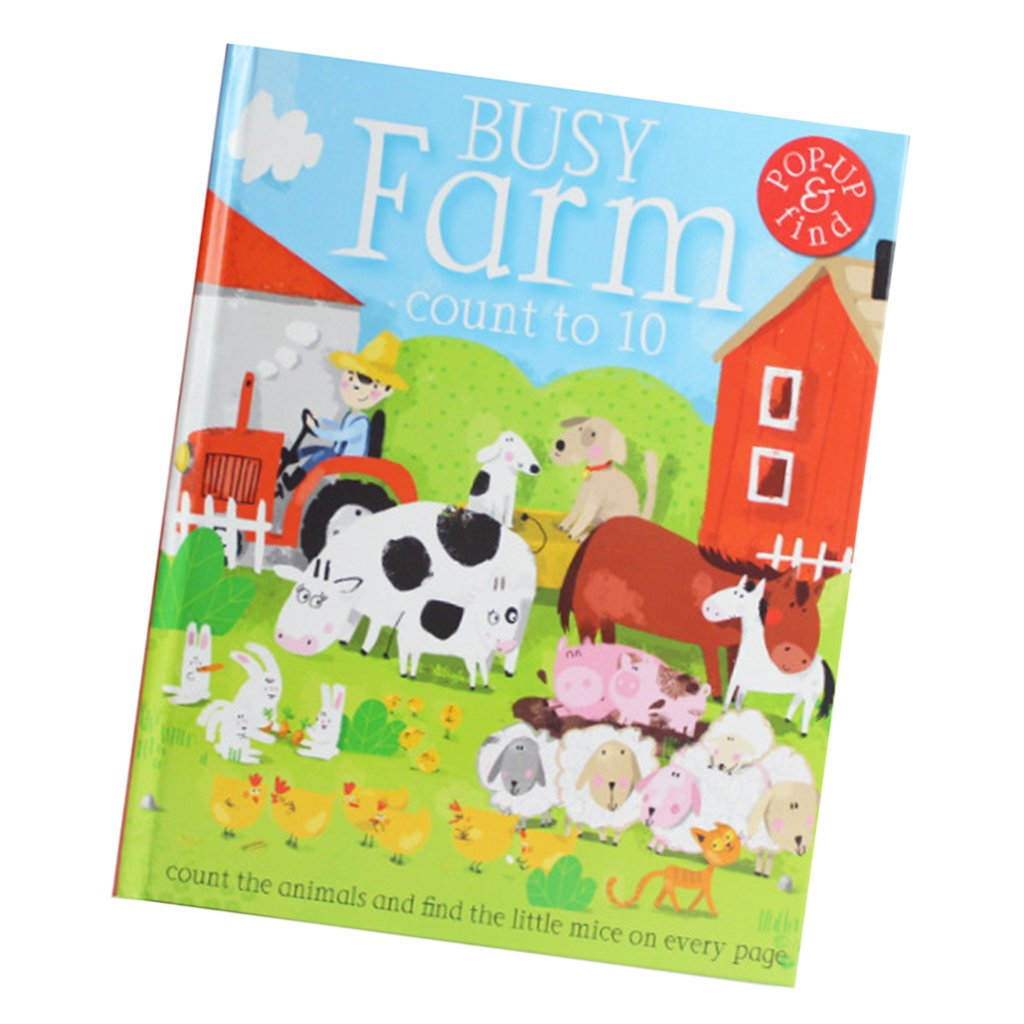 Fityle 3D Pop Up Books for Kids Boys Girls (Story Book, Baby Book, Children's Book) - A busy farm by Fityle (Image #1)