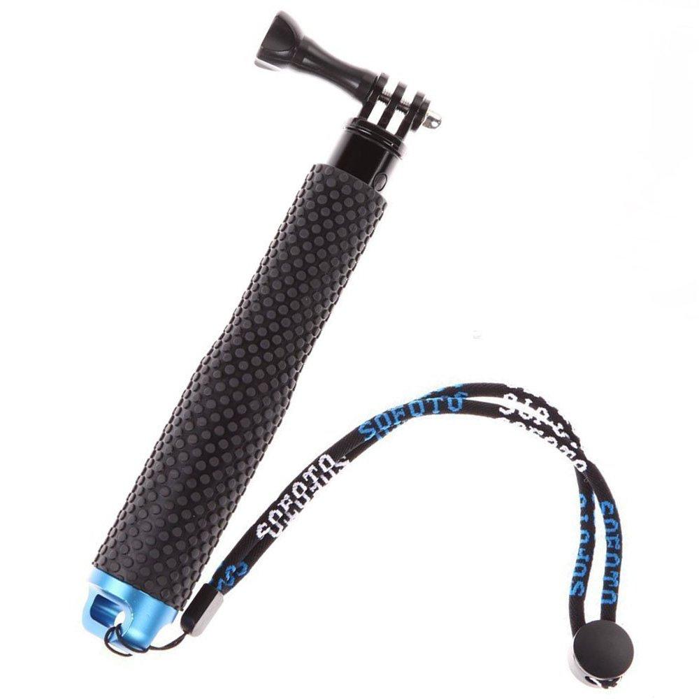 MyArmor Rubberized Aluminum Hand Grip Waterproof Selfie Stick Extendable (7 - 19 inch) Telescopic Handheld Pole Monopod for GoPro HD Hero 5/4/3+/3/2/1