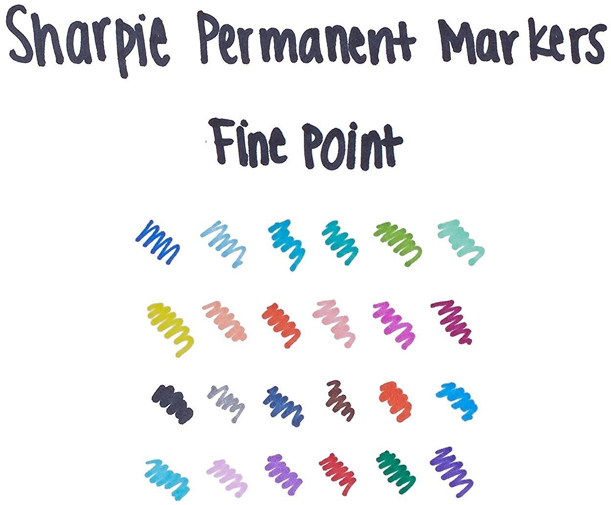 Sharpie 75846 Fine Point Permanent Markers, Assorted Colors; 3 Sets of 24 Markers, Total 72 Markers; Proudly Permanent Ink Marks on Paper, Plastic, Metal and Most Other Surfaces by Sharpie (Image #4)