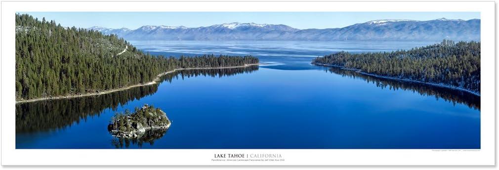 Vista Point Studio Gallery Award Winning Landscape Panoramic Art Print Poster: Emerald Bay Lake Tahoe