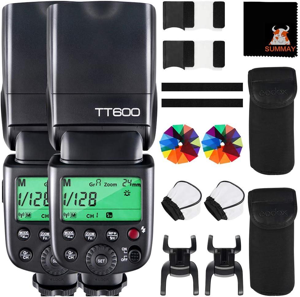 SUTT600 2pcs SUTT6002X GODOX TT600 Flash Speedlight Bulks of 2 Kits Trigger GN60 2.4G Wireless Camera Speedlite for Canon Nikon Pentax Fujifilm Olympus Camera