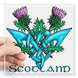 "CafePress - Thistles Scotland Square Sticker 3"" X 3 - Square Bumper Sticker Car Decal, 3""x3"" ..."